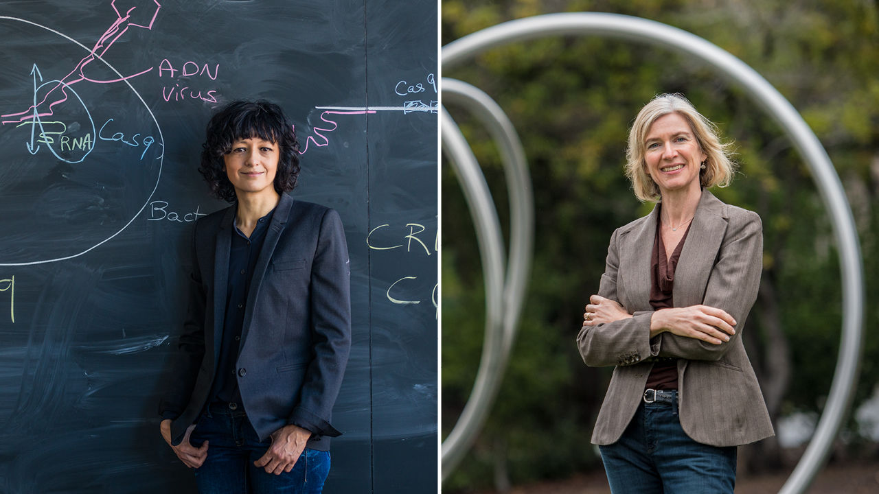 Emmanuelle Charpentier (left) and Jennifer Doudna (right) won this year's chemistry Nobel for the development of a powerful way to change DNA. (LEFT TO RIGHT): © PETER RIGAUD C/O SHOTVIEW ARTISTS; DEANNE FITZMAURICE